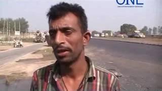 goraya gt road par tempo ne maari khade truck ko  takkar | truck ko lagi aag aur jal kar raakh