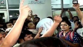 JNU students gherao VC and other officials, protest over missing varsity youth