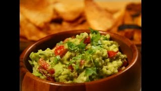 Guacamole with Homemade Tortilla Chips