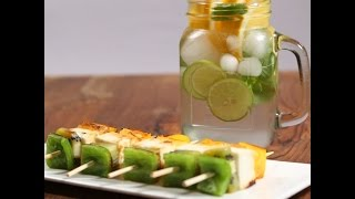 Paneer Skewers & Infused Water