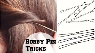 How To : Use Bobby Pins And Hair Pins Correctly So They Are Not Seen/ Easy Tips & Tricks