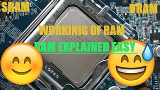 RAM Explained Easy RAM Workings SRAM DRAM EXPLAINED EASY #1