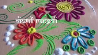diwali rangoli design - simple rangoli design - rangoli design with dots