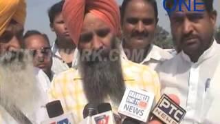 pathankot amritsar natioanl highway jam kisaan aur aadtiyo ka rosh pardarshan | pathankot