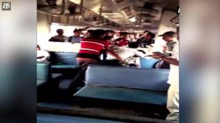 Passengers thrash ticket checker