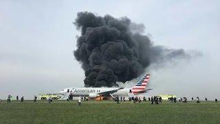 Plane Crash/Fire  Chicago O'Hare 10-28-2016