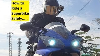 How to Ride a Superbike Safely. Tutorial. Part 1.