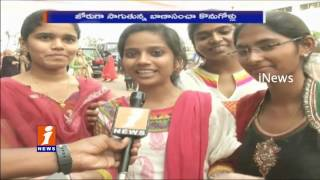 Diwali Celebrations in Minority College - Heroine Mannara Chopra Participated | Hyderabad - iNews