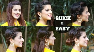 Perfect Side Hair Poof - No Teasing - 6 QUICK & EASY Indian Hairstyles For Medium Hair For Diwali