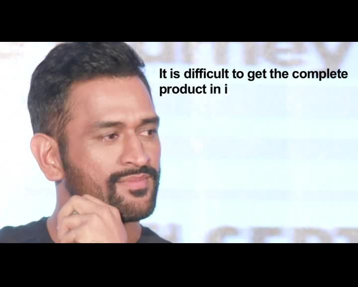 Dhoni's advice for young batsmen
