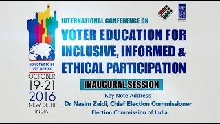Dr Nasim Zaidi, Chief Election Commissioner