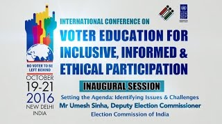 Mr Umesh Sinha, Deputy Election Commissioner, ECI
