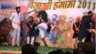 Gatka (Sikh Martial Art) at - Harjeet Singh Titlee LIVE in Baisakhi Hangama 2011.mpg