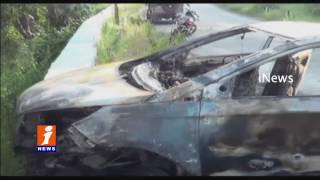 Road Accident Near Srisailam Car hits Divider iNews