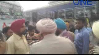traffic police ne kaate sarkari bus ke chalaan jalandhar bus stand par hungama
