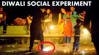 Pouring Water On Fire Crackers Diwali Social Experiment Tangotube