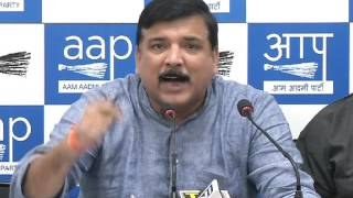 Aap Leader Sanjay Singh Briefs Media on the issue of banning on 500rs &1000rs