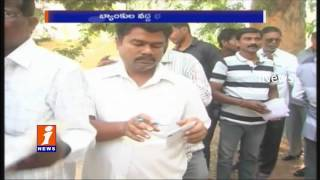People In Long Queue To Exchange of New Currency  at Nalgonda Special Counters  iNews