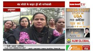 Anganwadi workers hold black protest, project demands, threats to strike