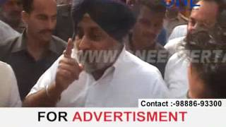 dy.cm punjab sukhbir singh badal in adampur syl issue par bole drama kar rahi hai congress