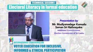 Presentation by : Mr. Mudiyanselage Kumudu Saman Sri Rathnayake, AC,  EC of Sri Lanka