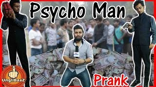 Psycho Man Burning Indian 500-1000 ban Rupees notes | Pranks in India 2016 | Unglibaaz