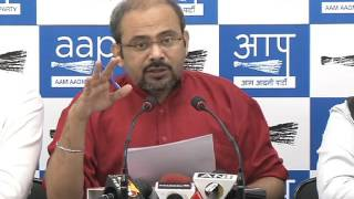 Aap Leader DIlip Pandey briefs media on how party MLA's are being harassed