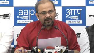 Aap leader Dilip pandey briefs media on Demonatisation on 500rs and 1000rs