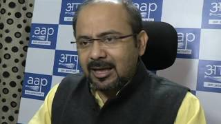Aap Leader Dilip Pandey briefs media on Amit Shah's PC saying Note Ban have made parties poorer