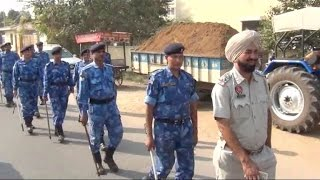Rapid Action Force marches in Patiala to protect the city against SYL issue protests