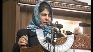 Mehbooba Mufti accuses Indian media for anti- Kashmir emotions!