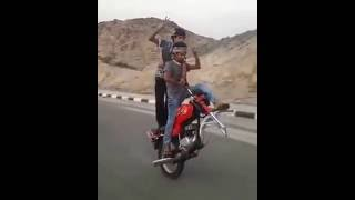 stunt maniacs desi boys on a stunt ride single tyre bike stunt