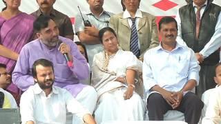 AAP minister Gopal Rai Addresses People at Azadpur Mandi against Financial Emergency