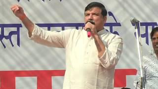 Aap Leader Sanjay Singh Addresses People at Azadpur Mandi against Financial Emergency