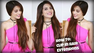 How To: Easily Clip On Long Hair Extensions For Volume And Length Apply Clip In Hair Extensions