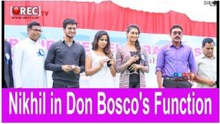 Hero Nikhil Siddharth graced Don Bosco's Silver Jubilee Celebrations - Latest telugu film news