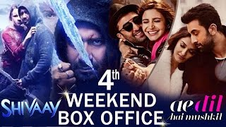 Shivaay V/s Ae Dil Hai Mushkil - 4th Weekend Box Office Collection