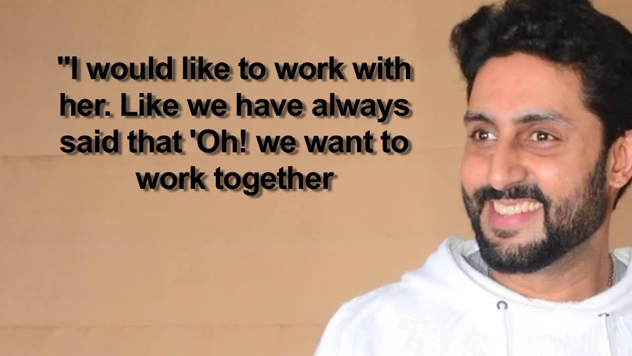 Abhishek Bachchan REACTS on working with Aishwarya Rai Bachchan