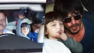 Shahrukh Khan, Abram, Alia Bhatt SPOTTED At Airport, Returns From Delhi - Dear Zindagi