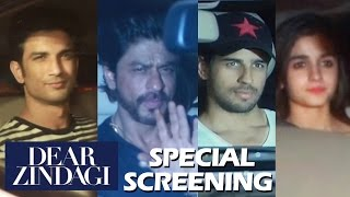 Dear Zindagi Special Screening - Shahrukh Khan, Alia Bhatt, Sidharth Malhotra, Sushant Rajput
