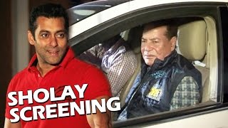 Salman Khan's SHOLAY Screening For Father Salim Khan On His 81st Birthday