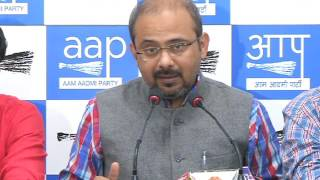 Aap Press Brief on Land Dealing Done By BJP all over India before banning Rs 500 , 1000 note