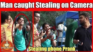 Man caught red handed stealing Mobile Phone Pranks in India 2016 Unglibaaz