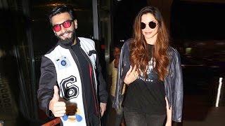 Ranveer Singh & Deepika Padukone SPOTTED At Airport, Leave For Dubai