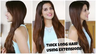 How To: Easily Clip On Long Hair Extensions For Volume And Length | Apply Clip In Hair Extensions