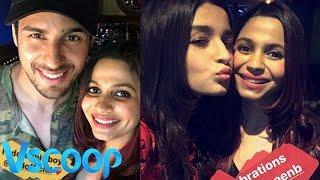 Sidharth Malhotra Joins Alia Bhatt At Shaheen's Birthday Bash #Vscoop