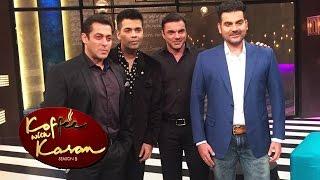 Salman, Arbaaz, Sohail SHOOTS For Koffee With Karan 5 - FIRST LOOK