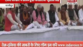 bjp leader tributed of krishna nand rai in ghazipur