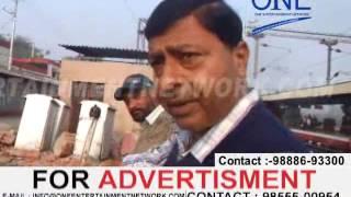 train accident jalandhar railway station dmu train platform se takraayi
