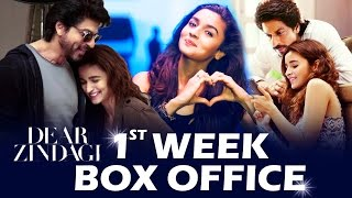 Dear Zindagi 1st WEEK BOX OFFICE Collection - SUPERB | Shahrukh Khan, Alia Bhatt